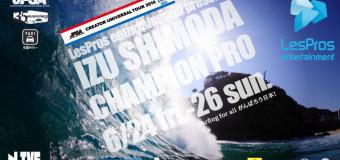 JPSAショートボード第2戦「伊豆下田 CHAMPION PRO」明日24日よりスタート!