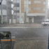 突然の雷雨と雹!