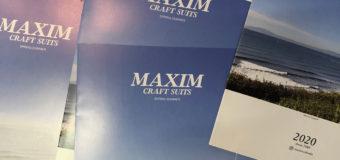 MAXIMウエットスーツ2020 Spring & Summer配布用カタログ届きました。